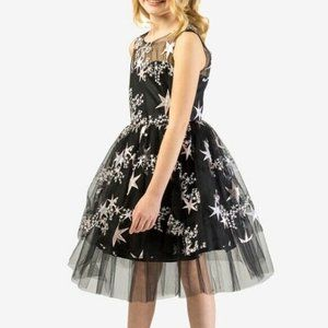 Bonnie Jean Girls Embroidered Stars Formal Dress